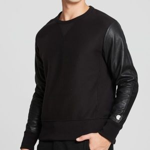 Todd Snyder x Champion Faux Leather Sleeve Top XL